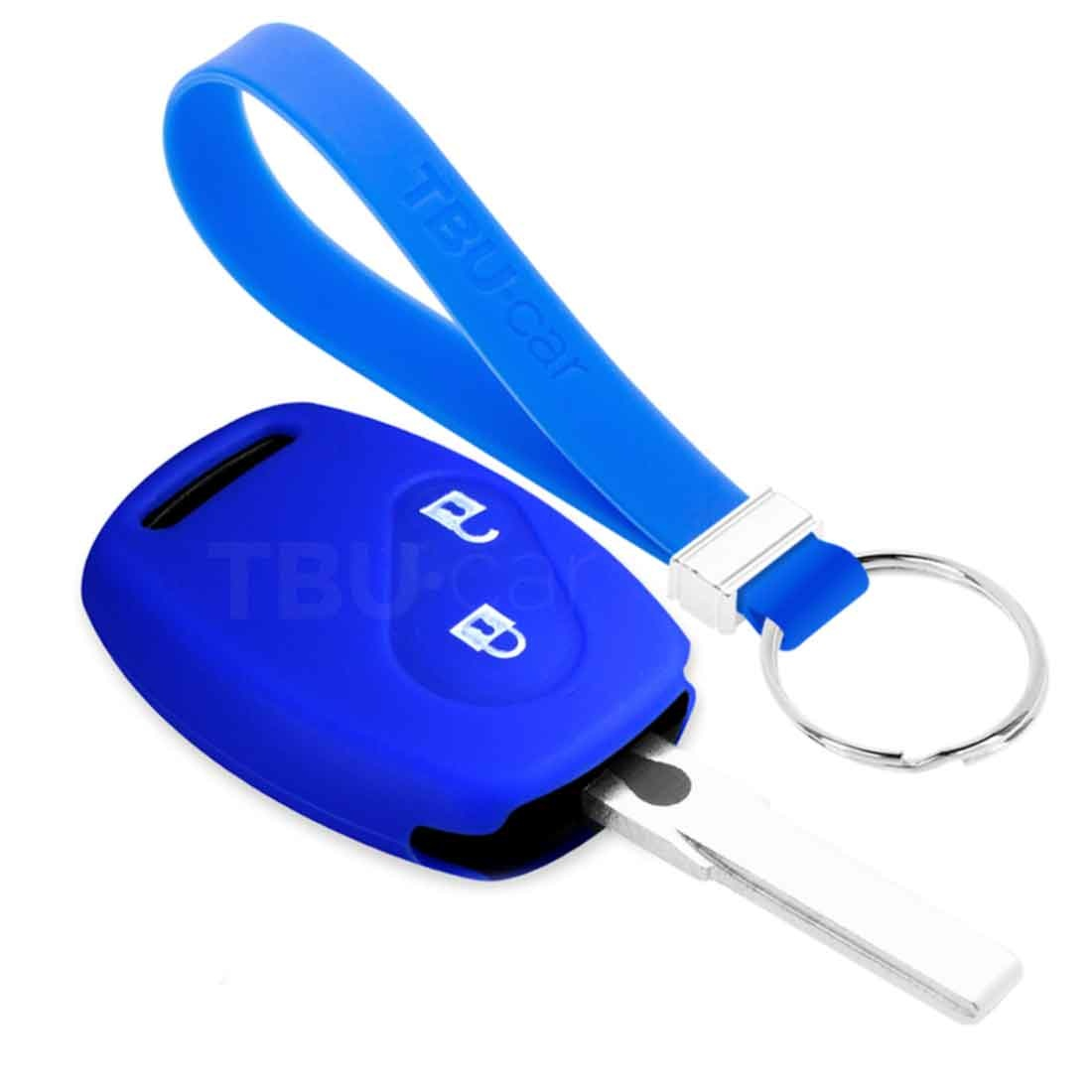 TBU car TBU car Autoschlüssel Hülle kompatibel mit Honda 2 Tasten - Schutzhülle aus Silikon - Auto Schlüsselhülle Cover in Blau