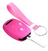 TBU car TBU car Sleutel cover compatibel met Honda - Silicone sleutelhoesje - beschermhoesje autosleutel - Roze
