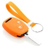 TBU car TBU car Sleutel cover compatibel met Honda - Silicone sleutelhoesje - beschermhoesje autosleutel - Oranje