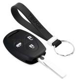 TBU car TBU car Autoschlüssel Hülle kompatibel mit Honda 3 Tasten - Schutzhülle aus Silikon - Auto Schlüsselhülle Cover in Schwarz