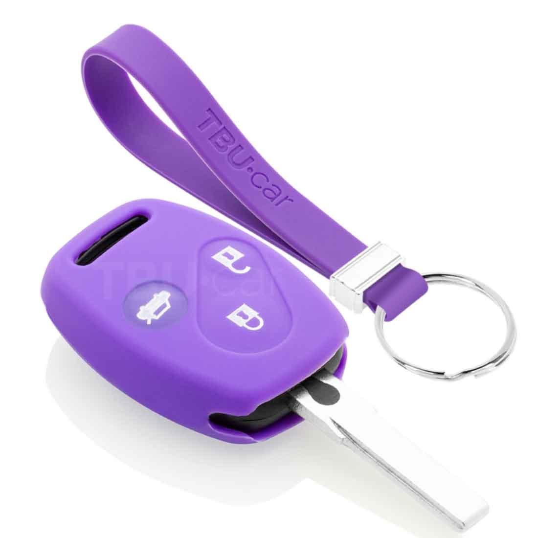 TBU car TBU car Sleutel cover compatibel met Honda - Silicone sleutelhoesje - beschermhoesje autosleutel - Paars