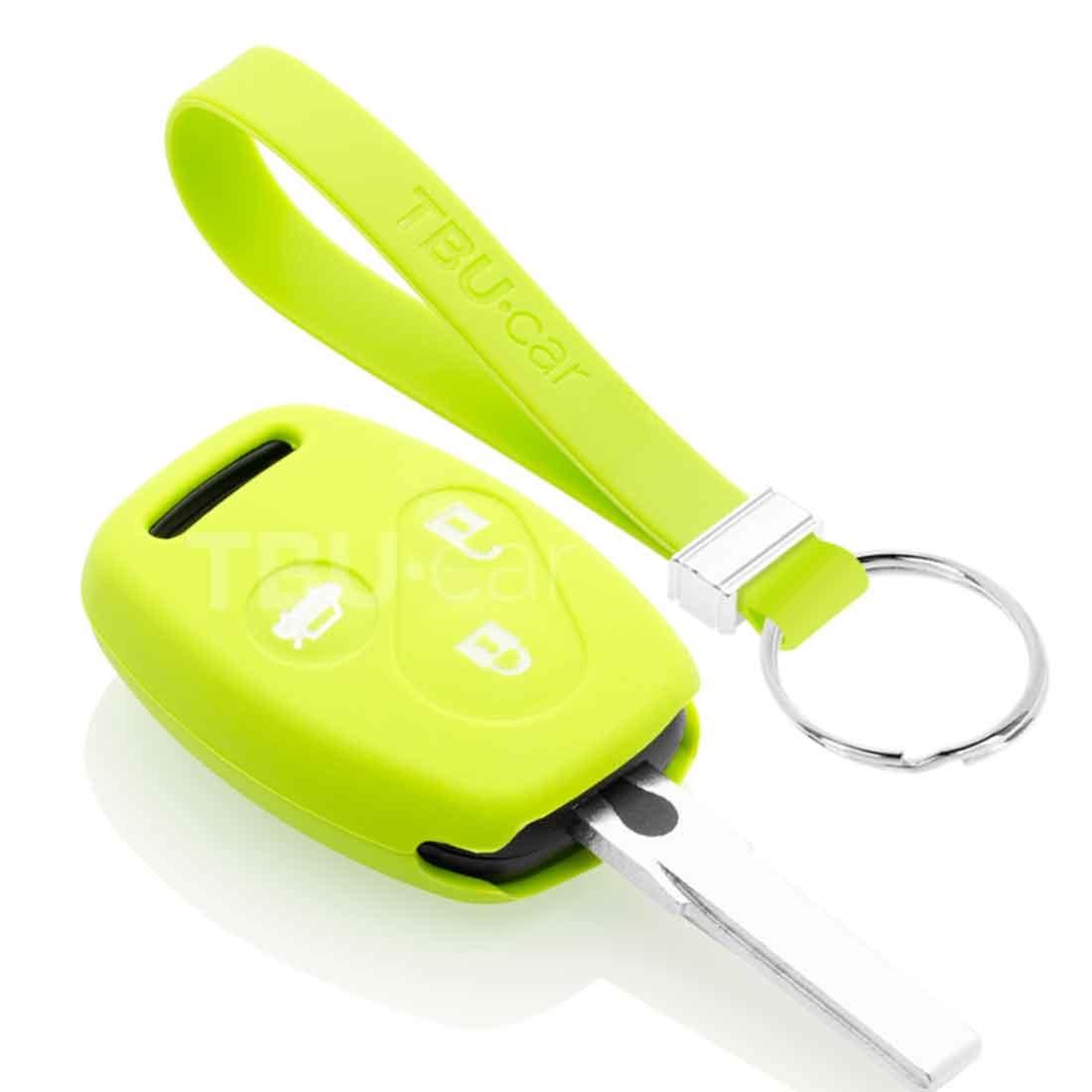 TBU car TBU car Autoschlüssel Hülle kompatibel mit Honda 3 Tasten - Schutzhülle aus Silikon - Auto Schlüsselhülle Cover in Lindgrün