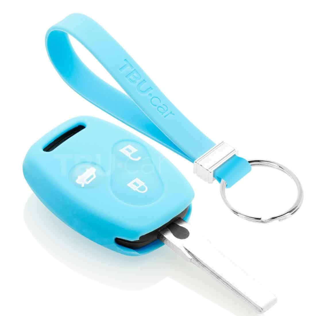 TBU car TBU car Autoschlüssel Hülle kompatibel mit Honda 3 Tasten - Schutzhülle aus Silikon - Auto Schlüsselhülle Cover in Hellblau