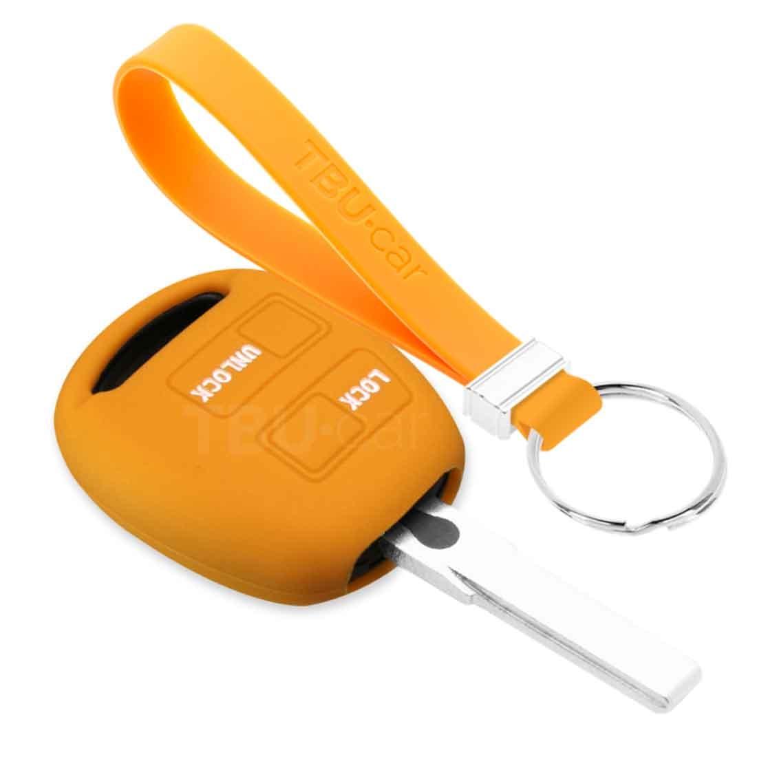 TBU car TBU car Autoschlüssel Hülle kompatibel mit Lexus 2 Tasten - Schutzhülle aus Silikon - Auto Schlüsselhülle Cover in Orange