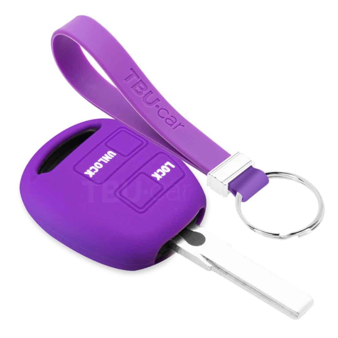 TBU car TBU car Autoschlüssel Hülle kompatibel mit Lexus 2 Tasten - Schutzhülle aus Silikon - Auto Schlüsselhülle Cover in Violett