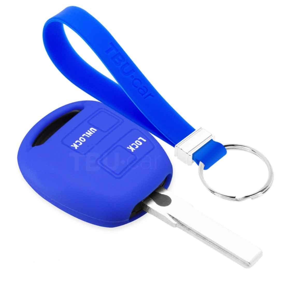 TBU car TBU car Sleutel cover compatibel met Lexus - Silicone sleutelhoesje - beschermhoesje autosleutel - Blauw