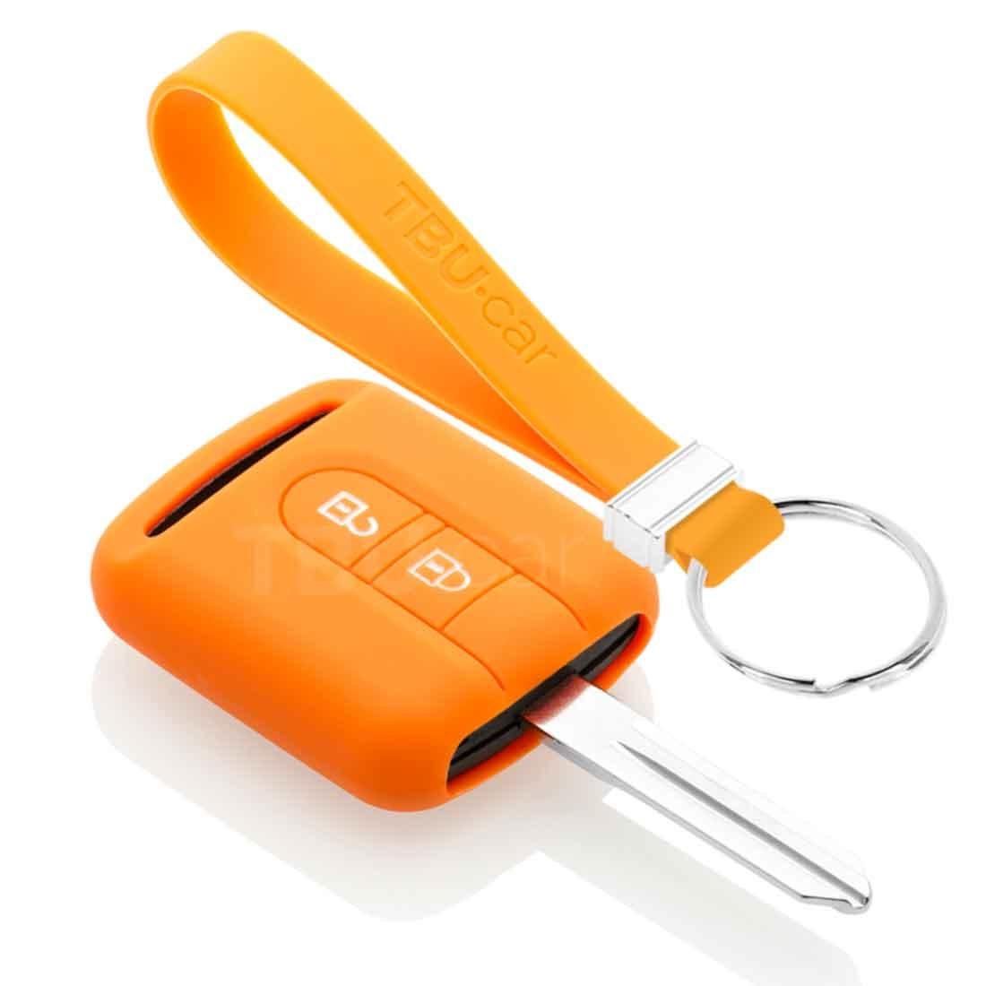 TBU car TBU car Sleutel cover compatibel met Nissan - Silicone sleutelhoesje - beschermhoesje autosleutel - Oranje