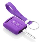 TBU car TBU car Sleutel cover compatibel met Nissan - Silicone sleutelhoesje - beschermhoesje autosleutel - Paars