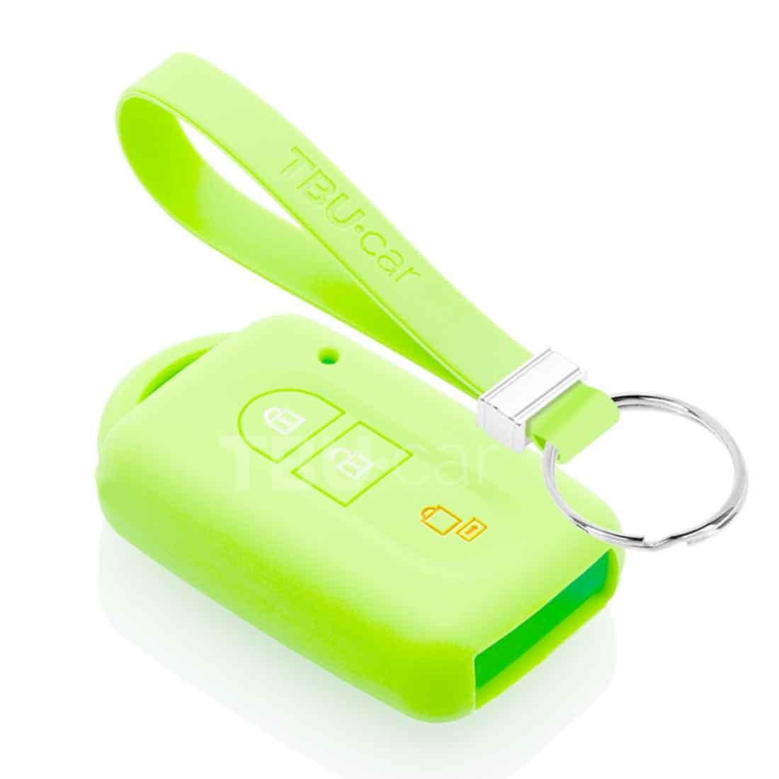 TBU car TBU car Sleutel cover compatibel met Nissan - Silicone sleutelhoesje - beschermhoesje autosleutel - Glow in the Dark
