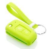 TBU car TBU car Autoschlüssel Hülle kompatibel mit Nissan 2 Tasten - Schutzhülle aus Silikon - Auto Schlüsselhülle Cover in Lindgrün