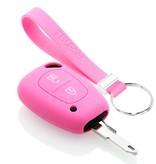 TBU car TBU car Sleutel cover compatibel met Opel - Silicone sleutelhoesje - beschermhoesje autosleutel - Roze