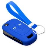 TBU car TBU car Sleutel cover compatibel met Opel - Silicone sleutelhoesje - beschermhoesje autosleutel - Blauw