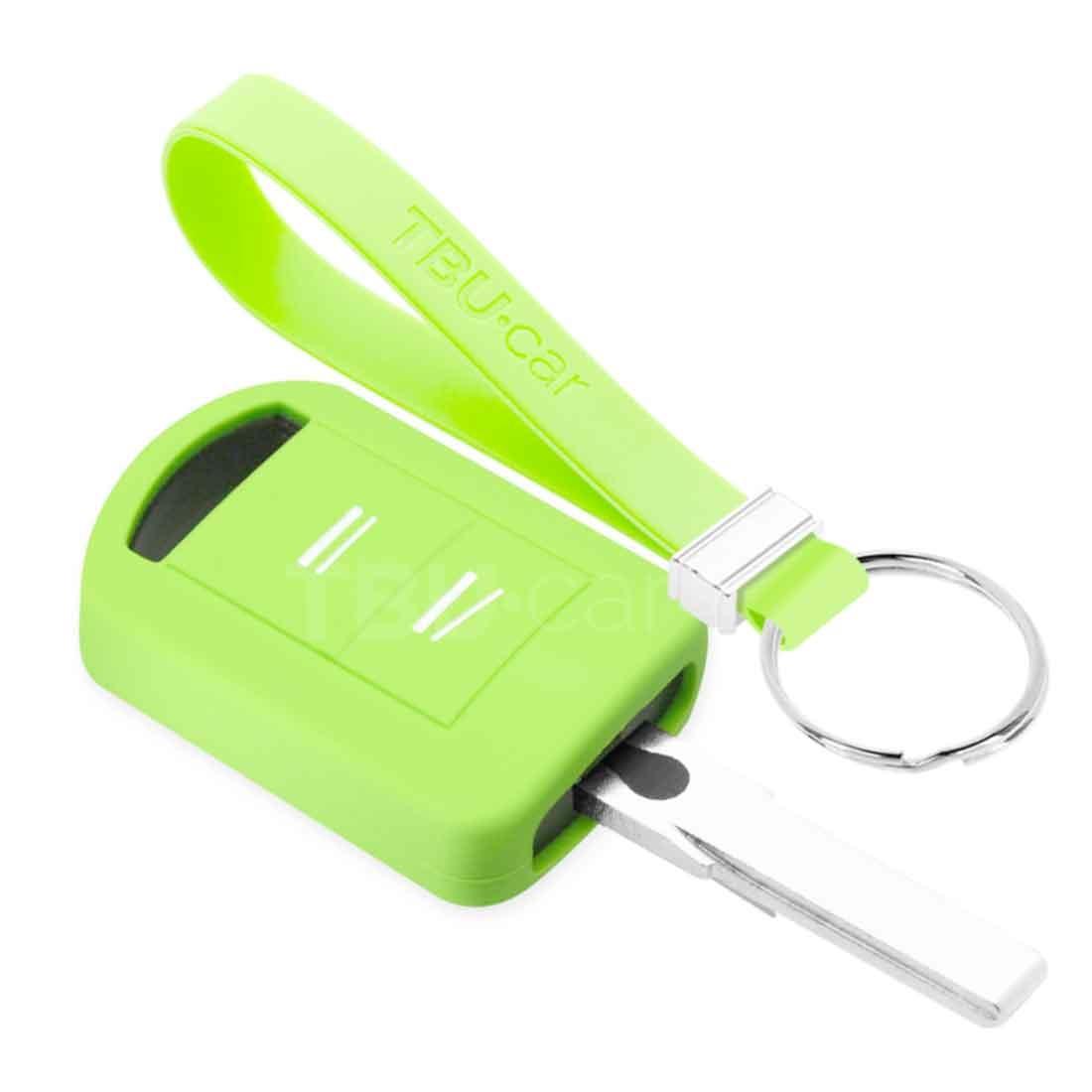 TBU car TBU car Sleutel cover compatibel met Opel - Silicone sleutelhoesje - beschermhoesje autosleutel - Glow in the Dark