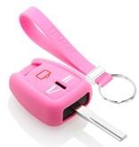 TBU car TBU car Autoschlüssel Hülle kompatibel mit Opel 3 Tasten - Schutzhülle aus Silikon - Auto Schlüsselhülle Cover in Rosa