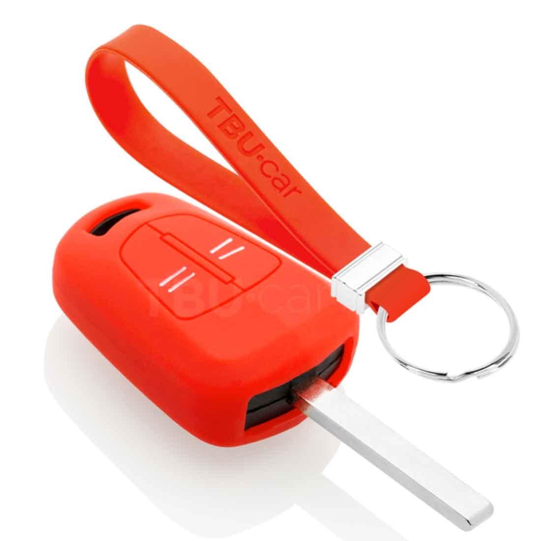 TBU car TBU car Sleutel cover compatibel met Opel - Silicone sleutelhoesje - beschermhoesje autosleutel - Rood