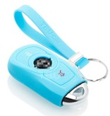 TBU car TBU car Autoschlüssel Hülle kompatibel mit Opel 3 Tasten (Keyless Entry) - Schutzhülle aus Silikon - Auto Schlüsselhülle Cover in Hellblau