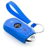 TBU car TBU car Autoschlüssel Hülle kompatibel mit Opel 3 Tasten (Keyless Entry) - Schutzhülle aus Silikon - Auto Schlüsselhülle Cover in Blau