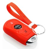 TBU car TBU car Autoschlüssel Hülle kompatibel mit Opel 3 Tasten (Keyless Entry) - Schutzhülle aus Silikon - Auto Schlüsselhülle Cover in Rot