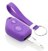 TBU car TBU car Autoschlüssel Hülle kompatibel mit Peugeot 2 Tasten - Schutzhülle aus Silikon - Auto Schlüsselhülle Cover in Violett