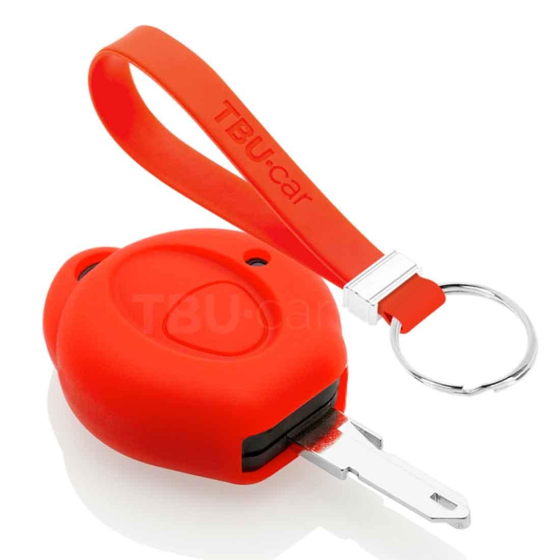TBU car TBU car Autoschlüssel Hülle kompatibel mit Peugeot 1 Taste - Schutzhülle aus Silikon - Auto Schlüsselhülle Cover in Rot