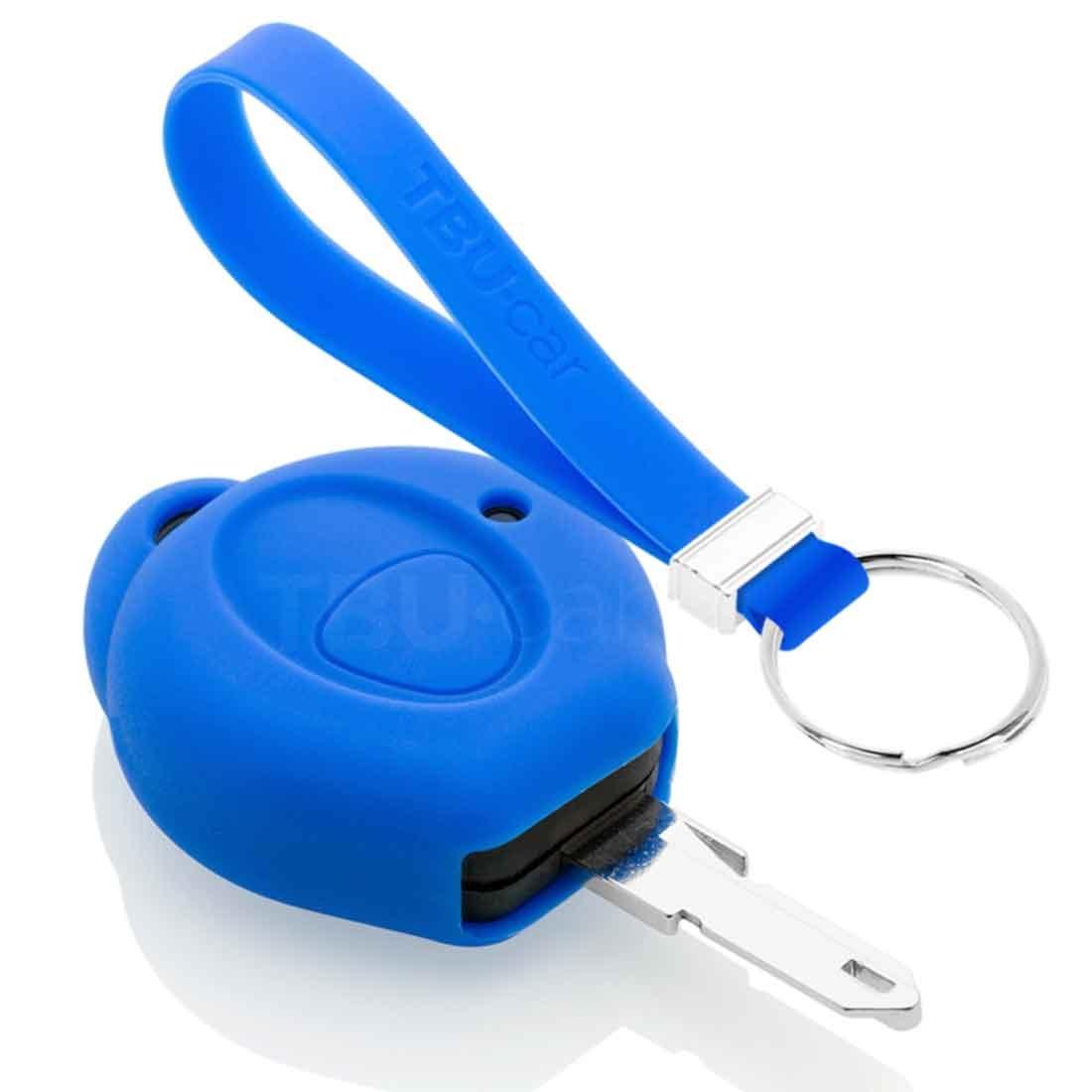 TBU car TBU car Autoschlüssel Hülle kompatibel mit Peugeot 1 Taste - Schutzhülle aus Silikon - Auto Schlüsselhülle Cover in Blau