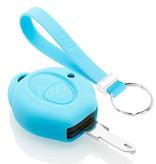 TBU car TBU car Sleutel cover compatibel met Peugeot - Silicone sleutelhoesje - beschermhoesje autosleutel - Lichtblauw