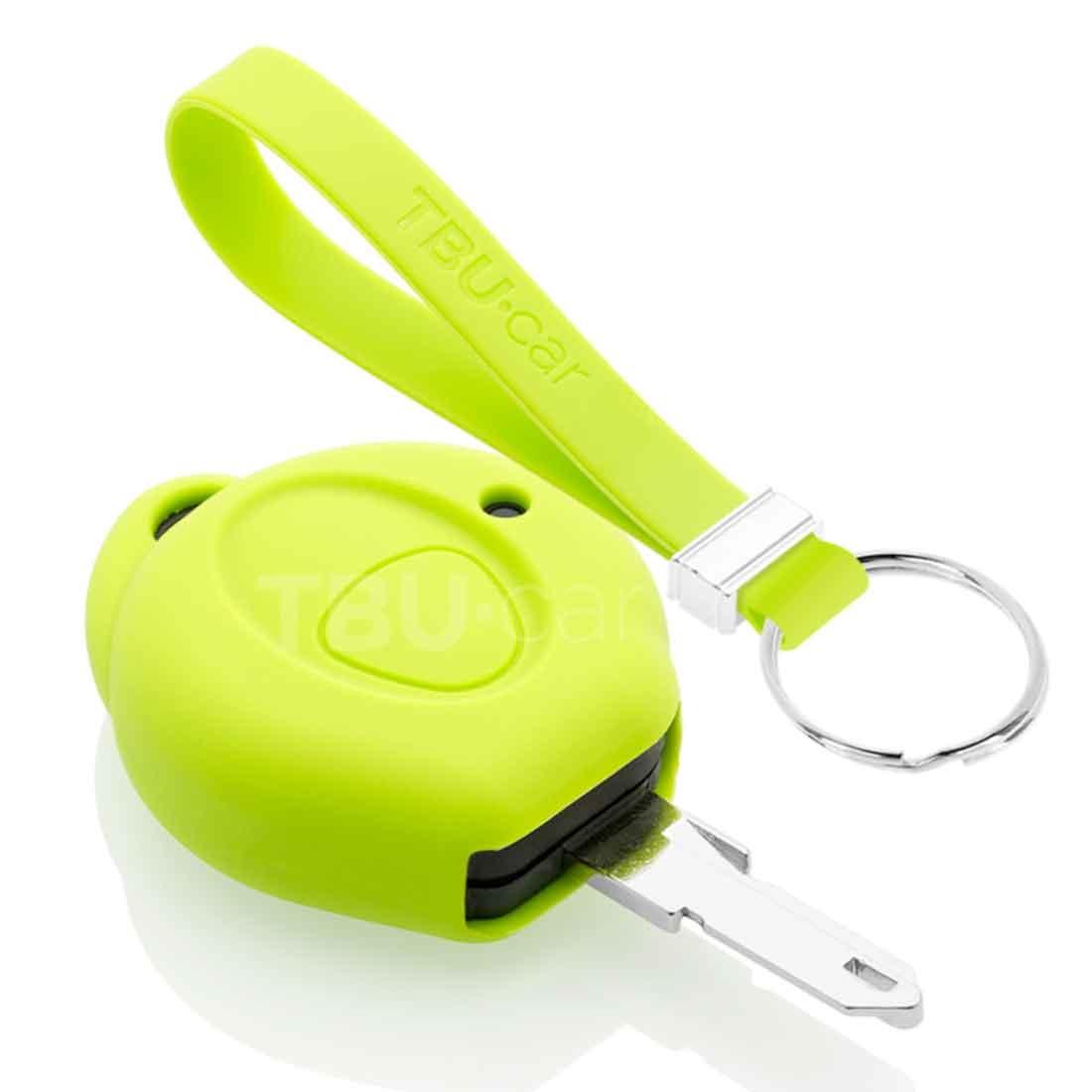 TBU car TBU car Autoschlüssel Hülle kompatibel mit Peugeot 1 Taste - Schutzhülle aus Silikon - Auto Schlüsselhülle Cover in Lindgrün