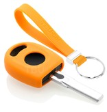 TBU car TBU car Autoschlüssel Hülle kompatibel mit VW Standardschlüssel - Schutzhülle aus Silikon - Auto Schlüsselhülle Cover in Orange