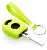 TBU car TBU car Autoschlüssel Hülle kompatibel mit VW Standardschlüssel - Schutzhülle aus Silikon - Auto Schlüsselhülle Cover in Lindgrün