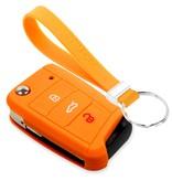 TBU car TBU car Sleutel cover compatibel met Seat - Silicone sleutelhoesje - beschermhoesje autosleutel - Oranje