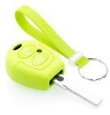 TBU car TBU car Sleutel cover compatibel met Skoda - Silicone sleutelhoesje - beschermhoesje autosleutel - Lime groen