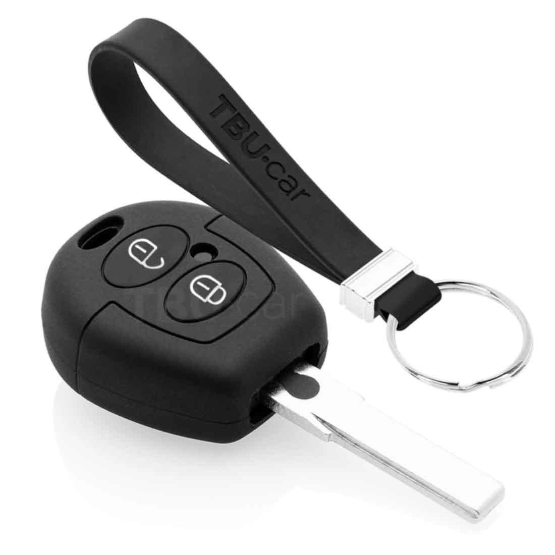 TBU car TBU car Autoschlüssel Hülle kompatibel mit Skoda 2 Tasten - Schutzhülle aus Silikon - Auto Schlüsselhülle Cover in Schwarz