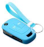 TBU car TBU car Sleutel cover compatibel met Vauxhall - Silicone sleutelhoesje - beschermhoesje autosleutel - Lichtblauw