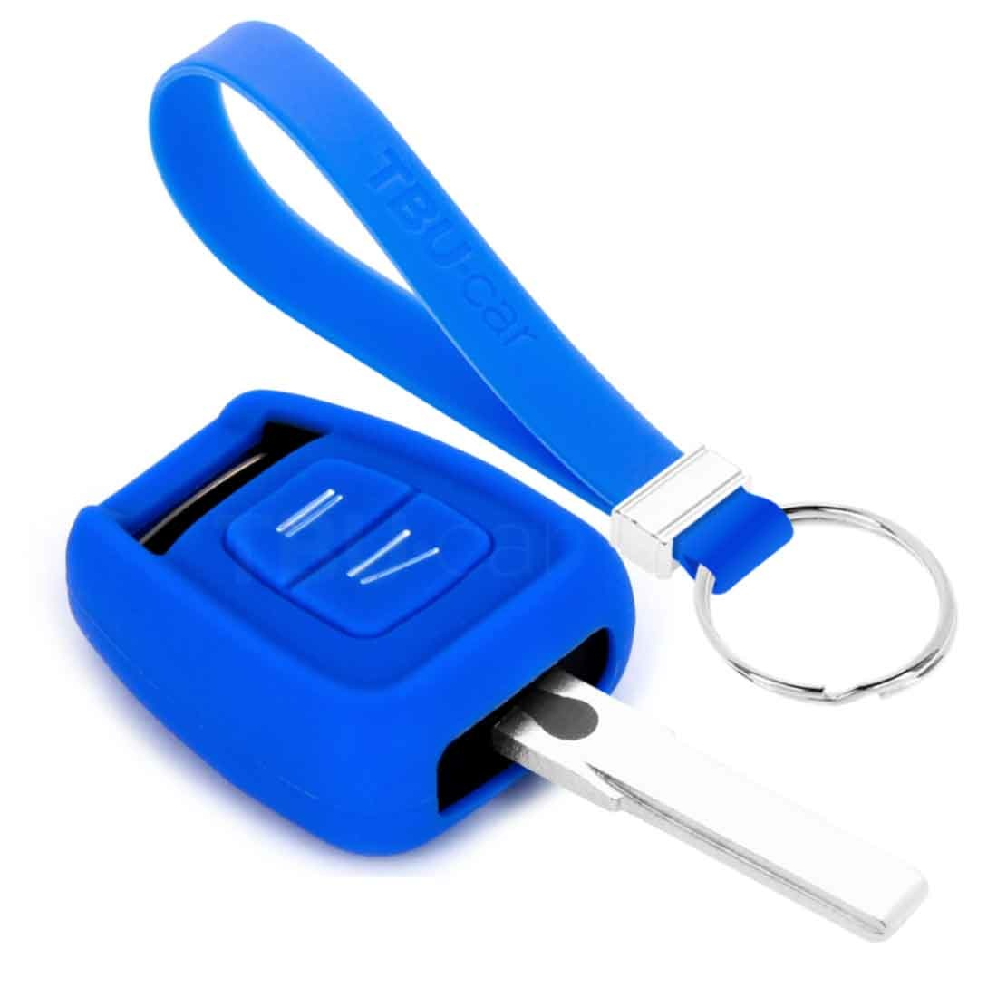 TBU car TBU car Autoschlüssel Hülle kompatibel mit Vauxhall 2 Tasten - Schutzhülle aus Silikon - Auto Schlüsselhülle Cover in Blau