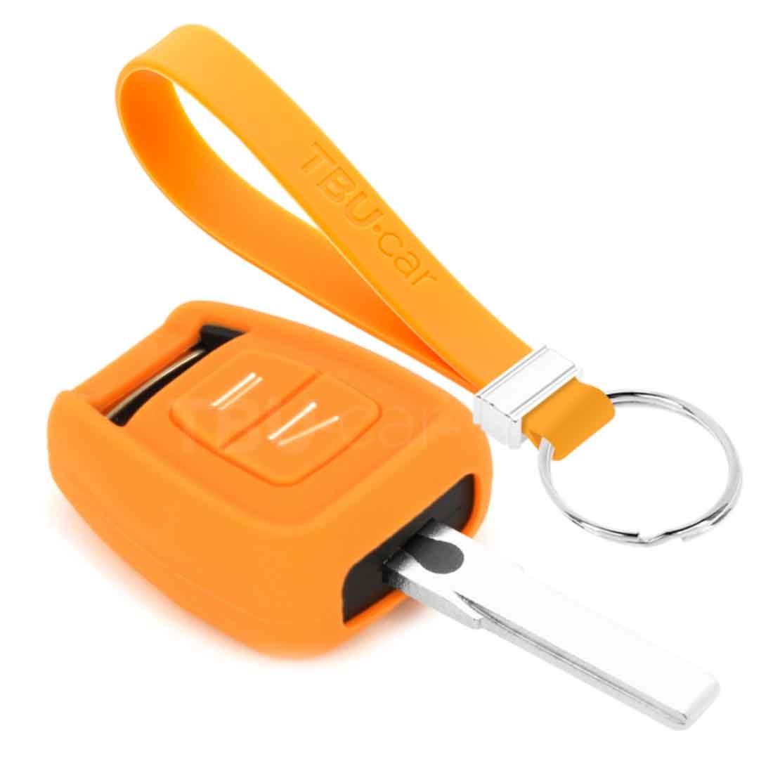 TBU car TBU car Sleutel cover compatibel met Vauxhall - Silicone sleutelhoesje - beschermhoesje autosleutel - Oranje