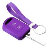 TBU car TBU car Sleutel cover compatibel met Vauxhall - Silicone sleutelhoesje - beschermhoesje autosleutel - Paars