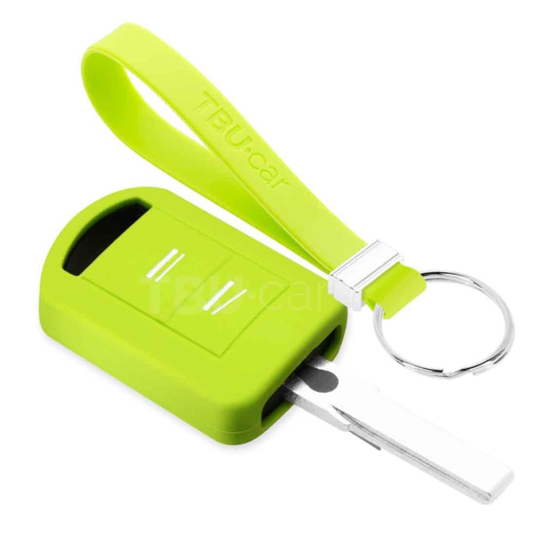 TBU car TBU car Autoschlüssel Hülle kompatibel mit Vauxhall 2 Tasten - Schutzhülle aus Silikon - Auto Schlüsselhülle Cover in Lindgrün