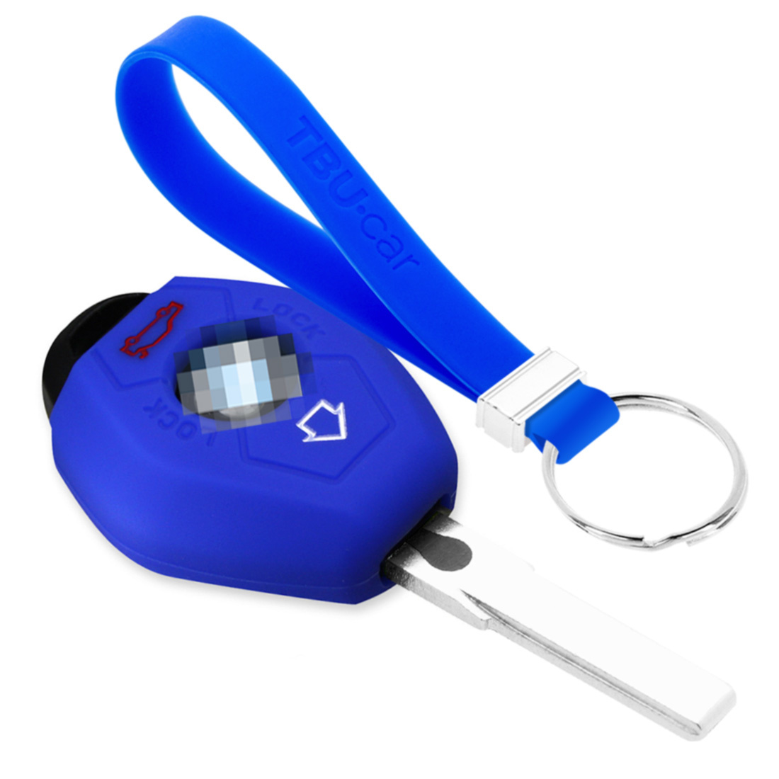 TBU car TBU car Autoschlüssel Hülle kompatibel mit BMW 3 Tasten - Schutzhülle aus Silikon - Auto Schlüsselhülle Cover in Blau