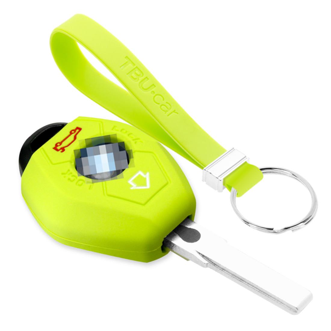 TBU car TBU car Sleutel cover compatibel met BMW - Silicone sleutelhoesje - beschermhoesje autosleutel - Lime groen