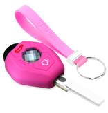 TBU car TBU car Autoschlüssel Hülle kompatibel mit BMW 3 Tasten - Schutzhülle aus Silikon - Auto Schlüsselhülle Cover in Rosa