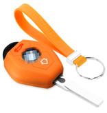 TBU car TBU car Car key cover compatible with BMW - Silicone Protective Remote Key Shell - FOB Case Cover - Orange