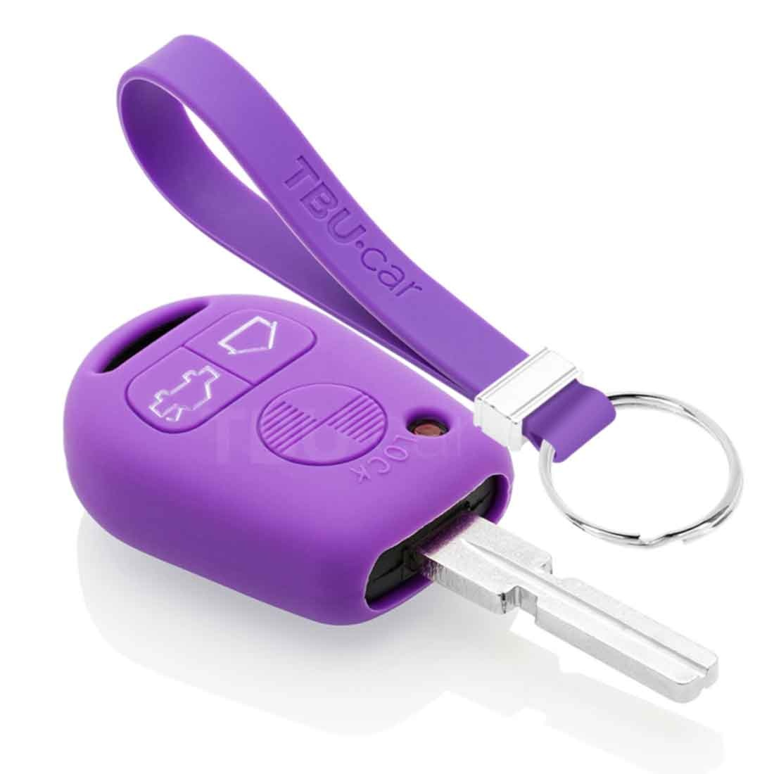 TBU car TBU car Autoschlüssel Hülle kompatibel mit BMW 3 Tasten - Schutzhülle aus Silikon - Auto Schlüsselhülle Cover in Violett