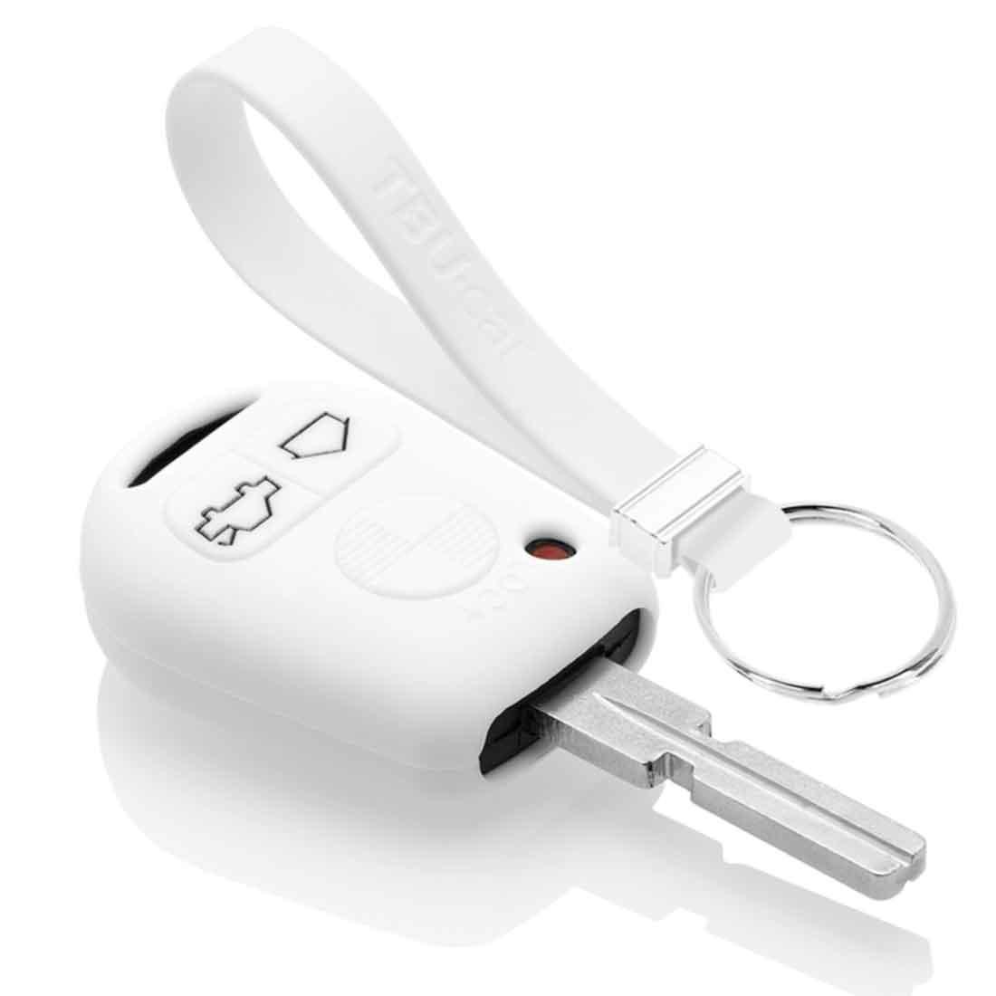 TBU car TBU car Autoschlüssel Hülle kompatibel mit BMW 3 Tasten - Schutzhülle aus Silikon - Auto Schlüsselhülle Cover in Weiß