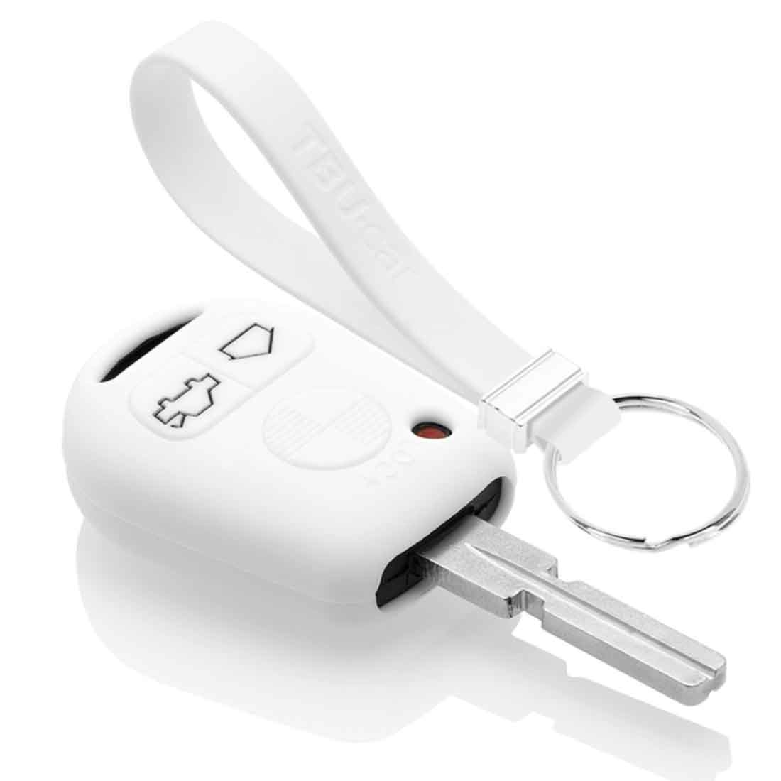 TBU car TBU car Car key cover compatible with BMW - Silicone Protective Remote Key Shell - FOB Case Cover - White
