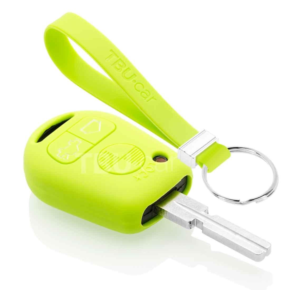 TBU car TBU car Autoschlüssel Hülle kompatibel mit BMW 3 Tasten - Schutzhülle aus Silikon - Auto Schlüsselhülle Cover in Lindgrün