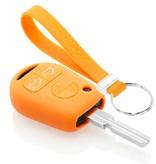 TBU car TBU car Autoschlüssel Hülle kompatibel mit BMW 3 Tasten - Schutzhülle aus Silikon - Auto Schlüsselhülle Cover in Orange