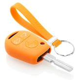 TBU car TBU car Car key cover compatible with BMW - Silicone Protective Remote Key Shell - FOB Case Cover - Orange