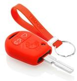 TBU car TBU car Autoschlüssel Hülle kompatibel mit BMW 3 Tasten - Schutzhülle aus Silikon - Auto Schlüsselhülle Cover in Rot