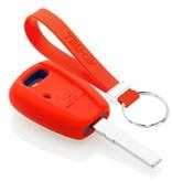 TBU car TBU car Sleutel cover compatibel met Fiat - Silicone sleutelhoesje - beschermhoesje autosleutel - Rood