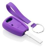 TBU car TBU car Autoschlüssel Hülle kompatibel mit Fiat 1 Taste - Schutzhülle aus Silikon - Auto Schlüsselhülle Cover in Violett